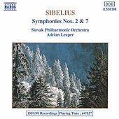 Symphonies Nos. 2 and 7 by Jean Sibelius