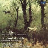 Britten, String Quartet No.1 /Shostakovich, Piano Quintet by Alberni String Quartet Clifford Benson