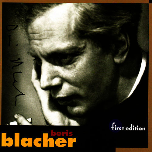 Blacher: Orchestral Variations on a Theme by Paganini, Orchestral Ornament Op. 44, Studie im Pianissimo Op. 45, Orchester Fantas by Louisville Orchestra