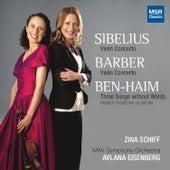 Sibelius and Barber: Violin Concertos by Zina Schiff