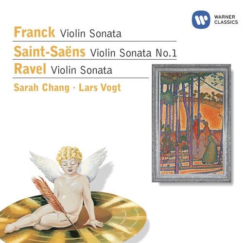 Angel logo - Franck: Sonata in A / Saint-Saëns: Violin Sonata No.1 / Ravel: Violin Sonata by Lars Vogt