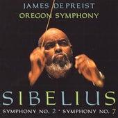 SIBELIUS, J.: Symphonies Nos. 2 and 7 (Oregon Symphony, DePreist) by James DePreist