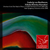 Overture from 'The Maid of Pskov', Coriolan Overture to von Collins' play by State Symphony Orchestra of the USSR