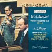 Mozart: Violin Concerto No. 3 / Bach: Sonata BWV 1014, 1015 & 1016 by Various Artists