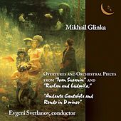 """Glinka. Overtures and orchestral pieces from """"Ivan Susanin"""" and """"Ruslan & Ludmila"""". """"Andante Cantabile & Rondo"""". de USSR State Symphony Orchestra"""
