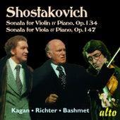 Shostakovich Sonatas Violin & Viola Op. 134 & 147 by Various Artists