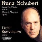 SCHUBERT: Piano Sonata No. 20 / Moment Musicaux, Op. 94 von Victor Rosenbaum