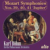 MOZART: Symphonies Nos. 39, 40, 41 'Jupiter' di Berlin Philharmonic Orchestra