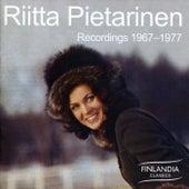 Recordings 1967 - 1977 by Riitta Pietarinen