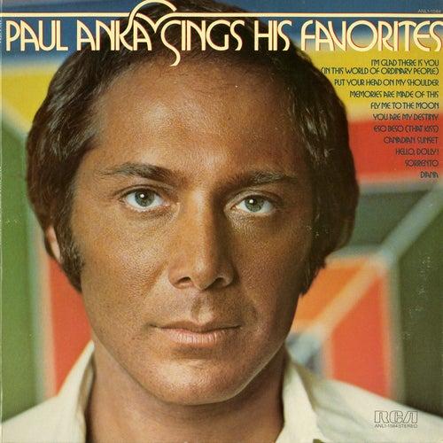 Sings His Favorites by Paul Anka