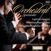 Orchestral Spectacular: Capriccio Espagnol, Polovtisian Dances, Vltava, Hungarian Rhapsodies Nos. 2 & 6 by Various Artists