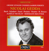 Bach, Schubert, Fauré, Poulenc, Reutter & Strauss: Lieder de Nicolai Gedda