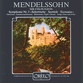 Mendelssohn: A Midsummer Night's Dream Overture & Symphony No. 3 in A Minor