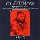 Glazunov: Symphonies Nos. 1 & 5 von Symphonie-Orchester des Bayerischen Rundfunks