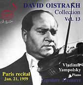 Oistrakh Collection, Vol. 13: Paris Recital, 1959 (Live) by David Oistrakh