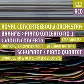 Brahms: Piano Concerto No. 1 & Violin Concerto - Schumann: Piano Quartet by Various Artists