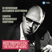 Chopin, Miaskovsky & Shaporin (The Russian Years) de Mstislav Rostropovich
