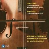 Saint-Saëns: Cello Concerto No. 1 & Miaskovsky: Cello Concerto von Mstislav Rostropovich