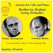 Beethoven, Brahms, Grieg & Prokofiev: Cello Sonatas (Live) de Mstislav Rostropovich