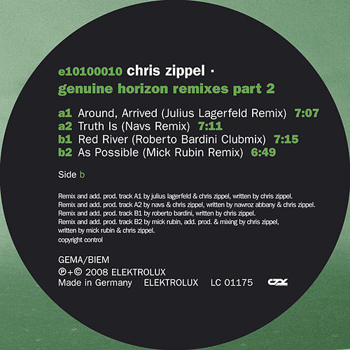 Genuine Horizon Remixes Part 2 by Chris Zippel