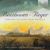 Reger, Beethoven: Serenades for Flute, Violin and Viola by Carlo Parazolli Andrea Oliva