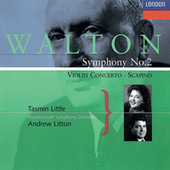 Walton: Violin Concerto; Symphony No. 2; Scapino de Andrew Litton