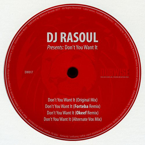 Don't You Want It by DJ Rasoul