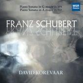 Schubert: Piano Sonata No. 18 in G Major, D. 894; Piano Sonata No. 20 in A Major, D. 959 by David Korevaar