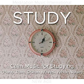 Study - Calm Music for Studying (Piano, Rain, Ocean Waves, White Noise) by Various Artists