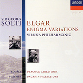 Elgar: Enigma Variations / Kodály: Peacock Variations / Blacher: Variations On A Theme Of Paganini de Sir Georg Solti