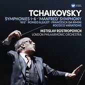 Tchaikovsky: Symphonies  Nos 1-6, Manfred Symphony, Overtures & Rococo Variations by Mstislav Rostropovich