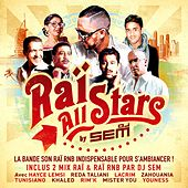 Raï All Stars by DJ Sem - La bande son Raï RnB indispensable pour s'ambiancer ! Inclus 2 Mix Raï & Raï RnB par DJ SEM ! Avec Hayce Lemsi, Reda Taliani, Lacrim, Zahouania, Tunisiano, Khaled, Rim'K, Mister You, Youness... de Various Artists