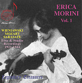Erica Morini, Vol. 1: Wieniawski, Mozart & Sarasate by Erika Morini