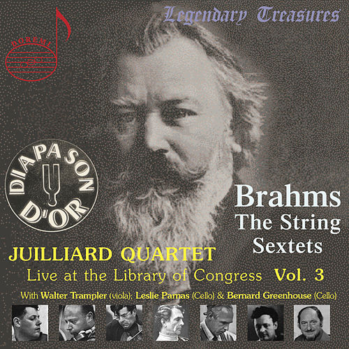 Juilliard Quartet, Vol. 3: Live at Library of Congress – Brahms Sextets by Juilliard String Quartet