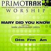 Mary Did You Know (Worship Primotrax) [Performance Tracks] - EP by Various Artists