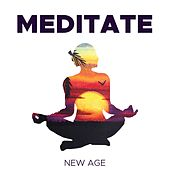 Meditate - Meditation Music with Asian Vibes, Tibetan Singing Bowls, Sounds of Rain, Thunderstorm and Ocean Waves de Various Artists