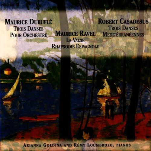 Duruflé / Ravel / Casadesus for Two Pianos by Ariana Goldina And Rémy Loumbrozo