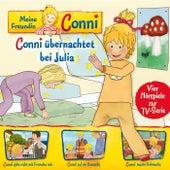 08: Conni übernachtet bei Julia / Conni geht nicht mit Fremden mit / Conni auf der Baustelle / Conni macht Flohmarkt (Vier Hörspiele zur TV-Serie) von Meine Freundin Conni