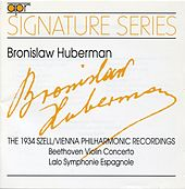 Signature Series: Bronislaw Huberman (The 1934 Szell/Vienna Philharmonic Recordings) by Bronislaw Huberman