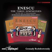 Enescu: The 3 Symphonies, Orchestral Suite No. 3 & 2 Romanian Rhapsodies de Various Artists