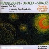 Sonates Pour Violon Et Piano de Gérard Poulet