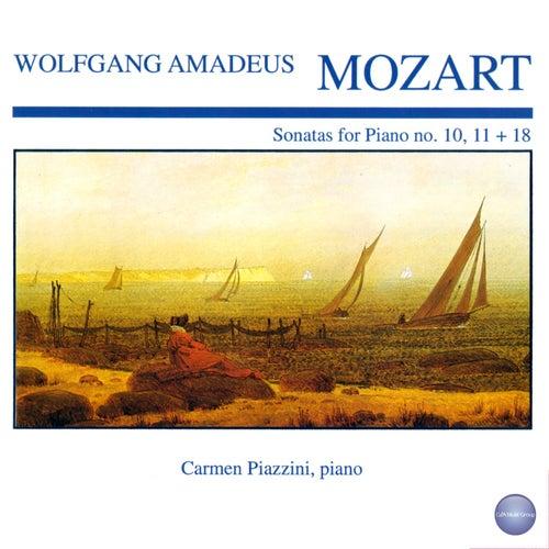 Mozart: Sonatas for Piano No. 10, 11 + 18 by Carmen Piazzini