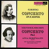 Grieg: Piano Concerto in A Minor, Op. 16 - Mendelssohn: Piano Concerto No. 1, Op. 25 by Erich Leinsdorf