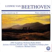 Beethoven: Violin Concerto in D Major, Op. 61 - Piano Concerto No. 2 in B Flat Major, Op. 19 von Elisabeth Leonskaja