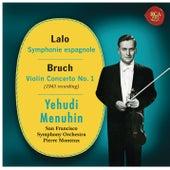 Lalo: Symphonie espagnole, Op. 21 - Bruch: Violin Concerto No. 1, Op. 26 by Yehudi Menuhin