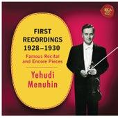 Yehudi Menuhin - First Recordings (1928 - 1930) by Yehudi Menuhin
