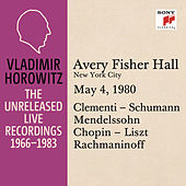 Vladimir Horowitz in Recital at Avery Fischer Hall, New York City, May 4, 1980 by Vladimir Horowitz