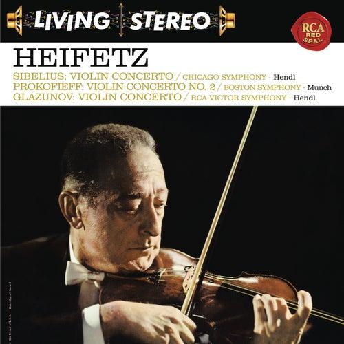 Sibelius: Violin Concerto in D Minor, Op. 47 -  Prokofiev: Violin Concerto No. 2 in G Minor, Op. 63 - Glazunov: Violin Concerto in A Minor, Op. 82 - Heifetz Remastered by Jascha Heifetz