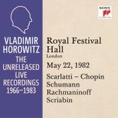 Vladimir Horowitz in Recital at the Royal Festival Hall, London, May 22, 1982 by Vladimir Horowitz