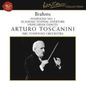 Brahms: Symphony No. 1 in C Minor, Op. 68, Academic Festival Overture, Op. 80 & Hungarian Dances, WoO 1 by Arturo Toscanini